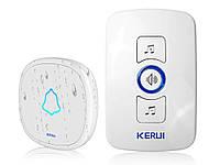 Smart дверной звонок Kerul M 525 беспроводной 1 ресивер 1 звонок Белый