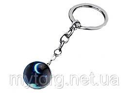Брелок для ключей Планета стеклянный 06