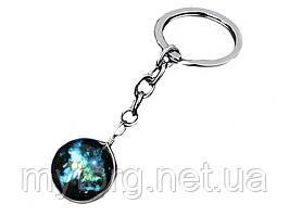 Брелок для ключей Планета стеклянный 05