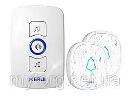 Беспроводный дверной звонок Kerul M 525 1 приемник 2 кнопки звонка Белый