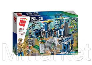 Конструктор Qman 1925 полиция, здание, транспорт, фигурки, животные, 961 деталей