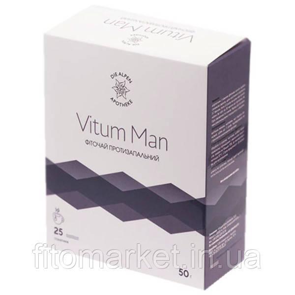 Vitum Man фіточай протизапальний для чоловіків 25 пакетиків ТМ Альпен Апотек / Alpen Apotheke