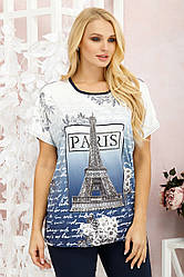 Футболка женская Париж синий