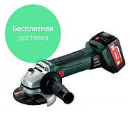 Аккумуляторная угловая шлифмашина Metabo W 18 LTX 125 2xLi-Power Extreme - 602174610