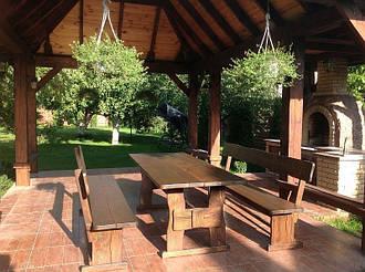 Мебель деревянная для площадки под мангал на даче в Борисполе 1