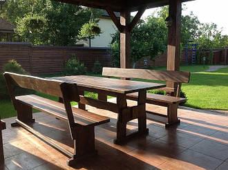 Мебель деревянная для площадки под мангал на даче в Борисполе 2