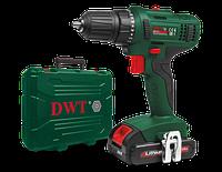 Шуруповерт DWT ABS-18 L-2 BMC, мощность 18 В, крутящий момент 28 Нм, 1250 оборот/мин, 2 аккумулятора
