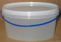 Ведро пищевое 3 и  5 л. прозрачное и белое.