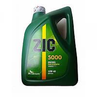 Полусинтетическое моторное масло ZIC(Зик) 5000 Diesel 10w-40 6л