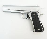 Страйкбольный пистолет Galaxy G.13S (Colt 1911) серебристый