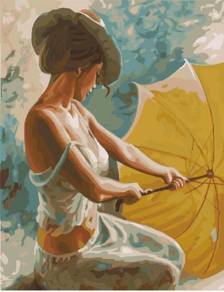 "Картина по номерам. Brushme ""Мисс с зонтом"" GX22337"