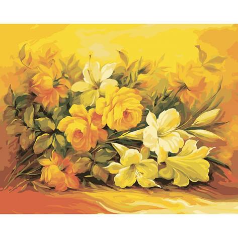 """Картина по номерам. Букеты """"Букет в желтом цвете"""" 40*50см KHO2037, фото 2"""