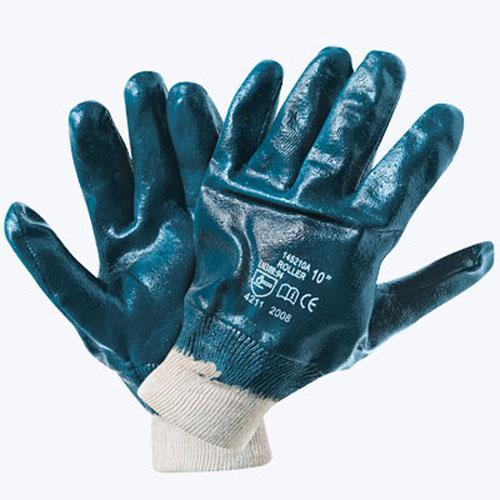 Рукавички нітрилові сині МБС (В'язаний манжет)