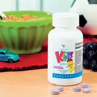 Мультивитамины для детей и взрослых без сахара - Форевер Кидс / Forever Kids, 120 таблеток