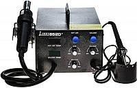 Паяльная станция термовоздушная, компрессорная, двухканальная Lukey 852D+ (Фен, паяльник, HAKKO, 900M, ESD Safe, 350Вт), фото 1