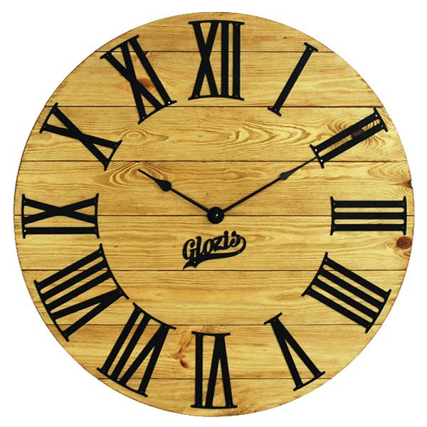 Настінні Годинники Дерев'яні Glozis Kansas Gold A-052 60х60