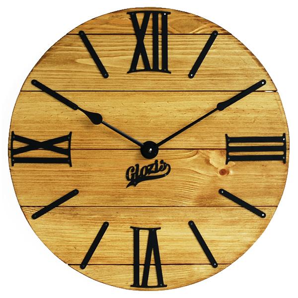 Настенные Часы Деревянные Glozis Nevada Gold A-056 40х40