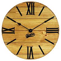 Настенные Часы Деревянные Glozis Nevada Gold A-056 40х40, фото 1