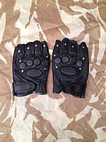 Тактические кожаные беспалые перчатки