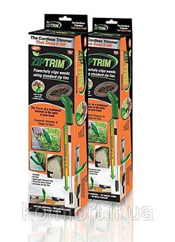 Ручная беспроводная газонокосилка Триммер для травы Zip Trim, фото 2