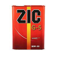 Трансмиссионное полусинтетическое масло ZIC(Зик) G-5 80W-90 4л.