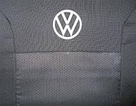 Чехлы в салон модельные для Volkswagen T5 '03-15 (1+2) бюджет (комплект), красный, фото 1