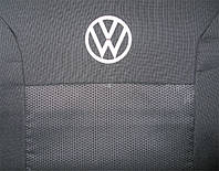 Чохли в салон модельні для Volkswagen Crafter I '06-16 (1+2) преміум (комплект), червоний, фото 1