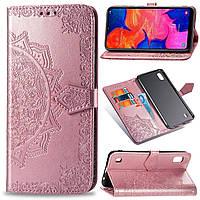 Чехол Vintage для Samsung Galaxy A10 2019 / A105 книжка кожа PU розовый
