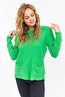 Джемпер с накладными карманами P-M - зеленый цвет, L/XL (есть размеры), фото 1