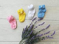 """Носочки для младенцев """"Бубончики"""" 0-6 мес (плотная вязка)"""