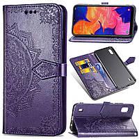 Чехол Vintage для Samsung Galaxy M10 2019 / M105F книжка кожа PU фиолетовый