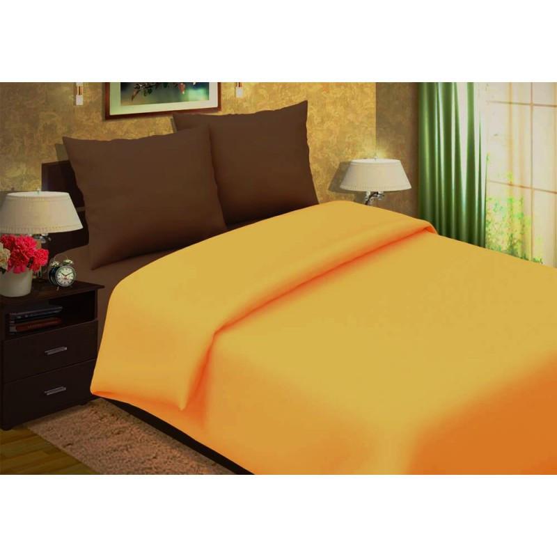 Комплект постельного белья  Апельсин в шоколаде  однотонный поплин, разные размеры двуспальный