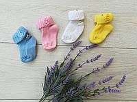 """Носочки для младенцев """"Цыплята"""" 0-6 мес (плотная вязка)"""