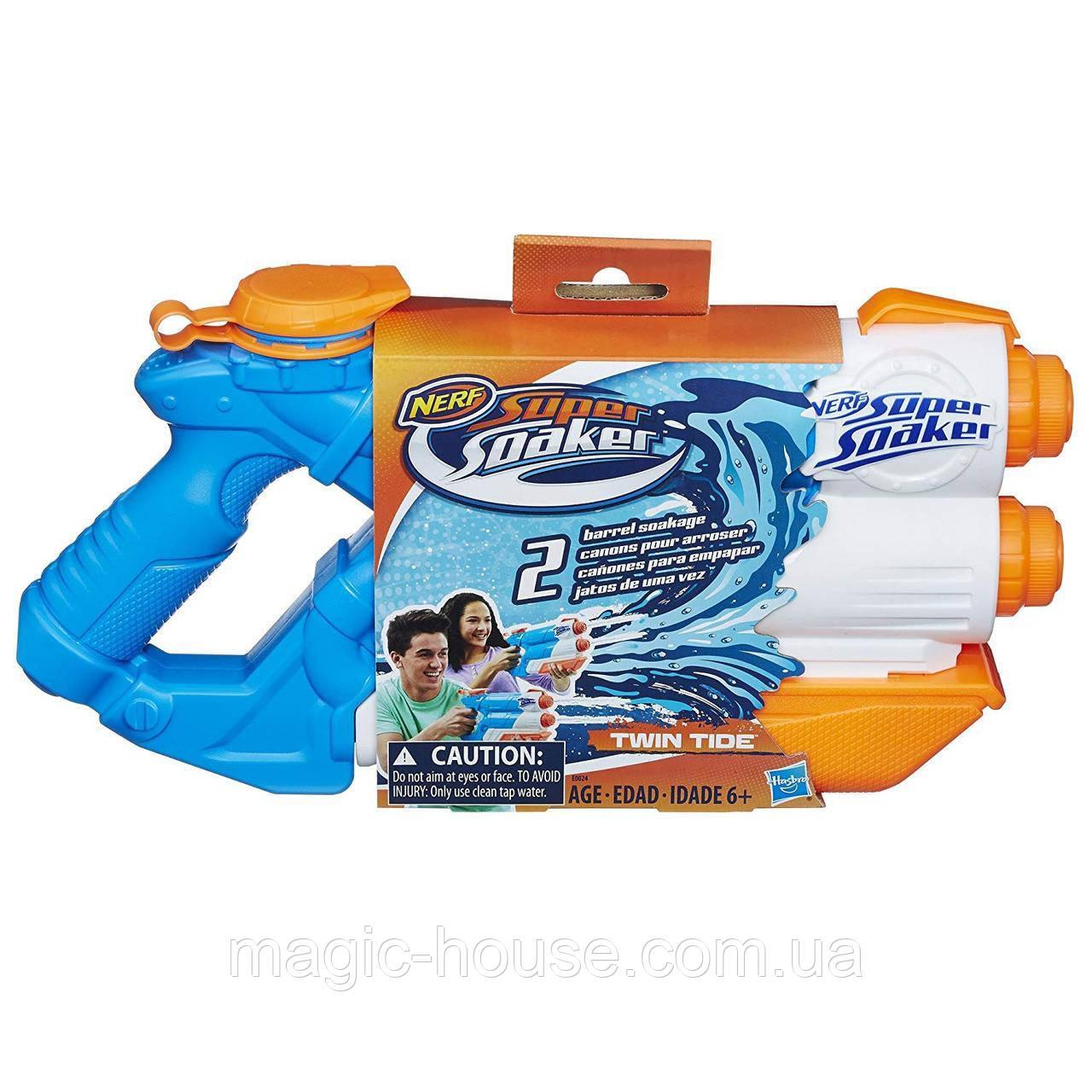 Водный Бластер Нерф Nerf Super Soaker Twin Tide от Hasbro
