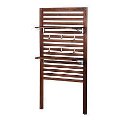 ИКЕА (IKEA) ЭПЛАРО, 498.989.68, Настенная панель+2 полки, коричневый коричневая морилка, 80x30x158 см