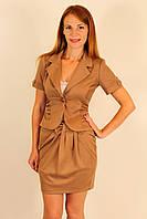 Трикотажный костюм юбка и пиджак 42-48 р