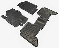 Коврики в салон Nissan Pathfinder iii (r51) 2005 - черные, полиуретановые (Петропласт, PPL-10733119) - комплект (4 шт.) + перемычка