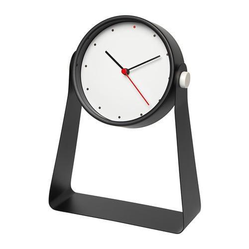 ИКЕА (IKEA) GNISSLA, 803.916.17, Настольные часы, черный, 13 см - ТОП ПРОДАЖ