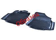 Коврики в салон Toyota Corolla XI (E160, E170) 2013 -, черные, полиуретановые (Петропласт, PPL-10742121) - передний водительский + пассажирский