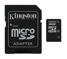 Карта памяти Kingston 16GB MicroSDHC Class 4 + SD Adapter (SDC4/16GB)