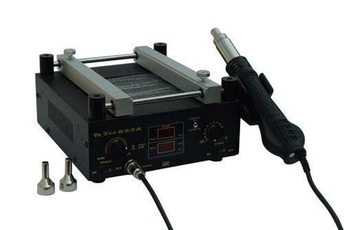Паяльная станция термовоздушная, турбинная, одноканальная, преднагреватель плат Ya Xun YX-853A (фен, преднагреватель плат, 600Вт)