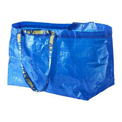 ИКЕА (IKEA) ФРАКТА, 172.283.40, Сумка, большая, синий, 71 л