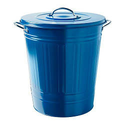 ИКЕА (IKEA) КНОД, 904.402.12, Ведро с крышкой, темно-синий, 40 л