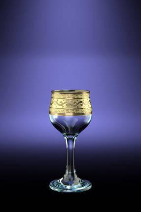 Набір чарок Гусак Кришталевий 55 мл 6шт Версаче GE08-164, фото 2