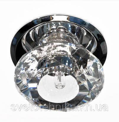 Декоративный светильник с кристаллом Feron JD80/М 20W G-4 прозрачный