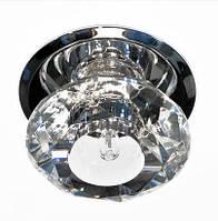 Декоративный светильник с кристаллом Feron JD80/М 20W G-4 прозрачный, фото 1