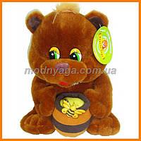 Медведь с бочонком мёда 25 см | Мягкая игрушка мишка