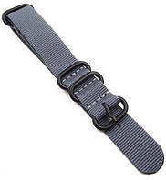 Ремешок для часов BeWatch Nato zulu strap 20 мм Grey (hub_YFmh94003)