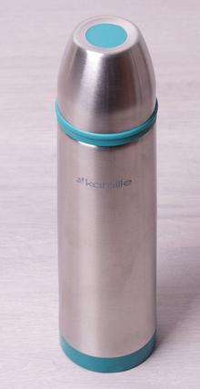 Термос 1000мл з нержавіючої сталі з пластиковими вставками і чохлом Kamille KM-2059, фото 2