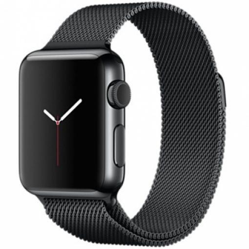 Ремешок iGuardian Milanese Loop для Apple Watch 40/38mm Black (IGUMLBAW4038)